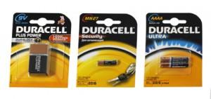 Blister Duracell piles 9V 12V 1,5V