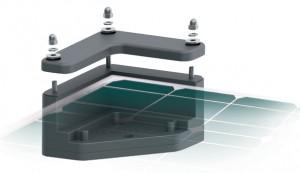 Support d'angle panneau solaire