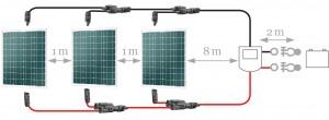 Connectique solaire multi-panneaux