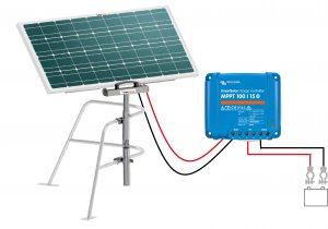 panneau solaire régulateur fixation balcon bateau
